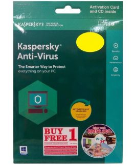 Kaspersky Antivirus 1 user 2018